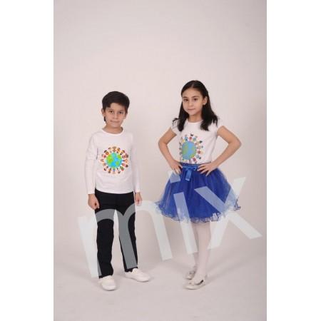 MİX - Dünya Çocukları Baskılı Tişört