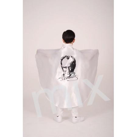 MİX - Beyaz Pelerin Atatürk Baskılı