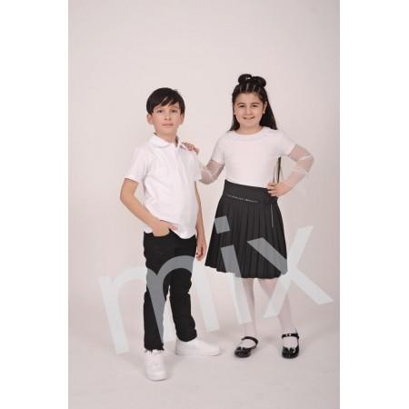 MİX - Siyah Pileli Takım