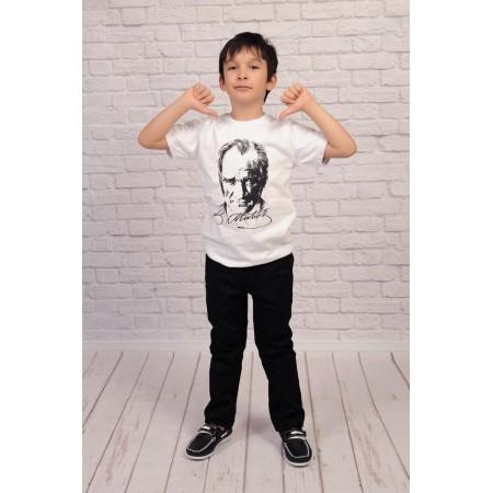 Atatürk Baskılı Tişört [SİYAH-BEYAZ]